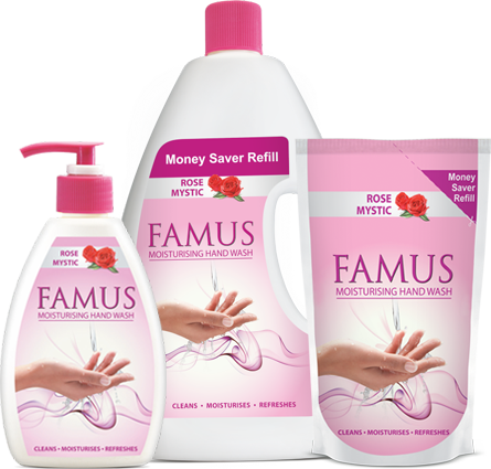 Famus Liquid Hand Wash – Rose Mystic